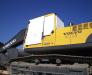 Der Transport der Baumaschinen mit der Fährlinie Derinice - Iliychevsk