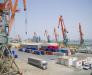 Transshipment of goods in the port of Alat Azerbaijan