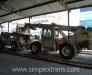 Die Eisenbahnbeförderung der Fahrzeuge in Afghanistan