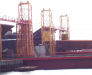 Le chargement sur le ferry-boat dans le port Iliychevsk Ukraine