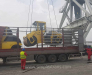 Transshipment of goods in the port of Alat and Hovsan Azerbaijan