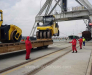 Transshipment and forwarding of goods in the port of Alat Azerbaijan.