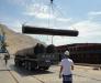 Transshipment of construction materials in the port of Turkmenbashi Turkmenistan