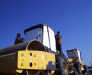 Reloading service of construction equipment from the vessel in the rail cars in the port of Ilichevsk Ukraine.