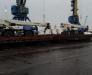Der Transport von keinen überdimensionierten Gütern durch den Hafen von Poti, Georgien