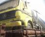 Loading and lashing of trucks on the rail platform