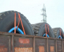 Delivery of large-diameter tires from Europe