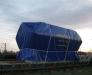 Railway delivery of oversized cargo