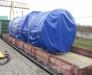 Transport de générateurs diesel sur le chemin de fer.