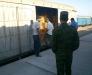 Services de transbordement dans la station de Sarahs, Turkménistan