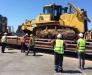 Transportul feroviar al echipamentelor de construcții din porturile Poti și Batumi Georgia