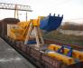 Transport feroviar al utilajului de constructii din Europa in Kazahstan