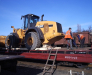 Transportarea pe calea ferată al utilajului de minerit