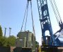 Railway transportation of the oversized cargo