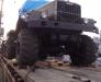 Rail transportation of the oversized cargo