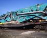 Railway transport of construction machinery